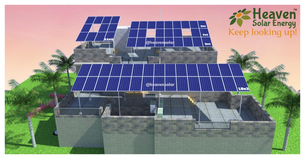 solar design & walk-through with shadow analysis