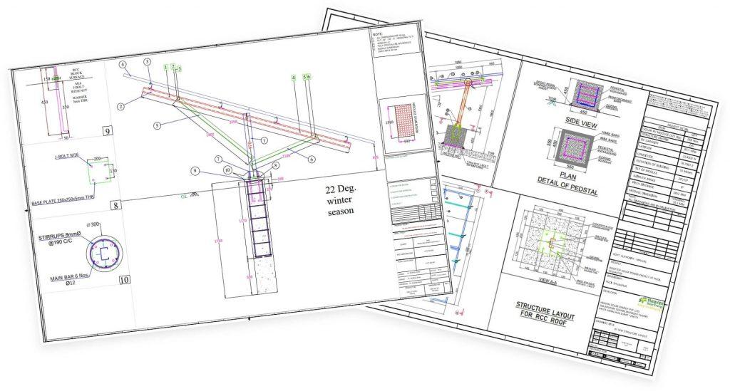 photo of solar structure design